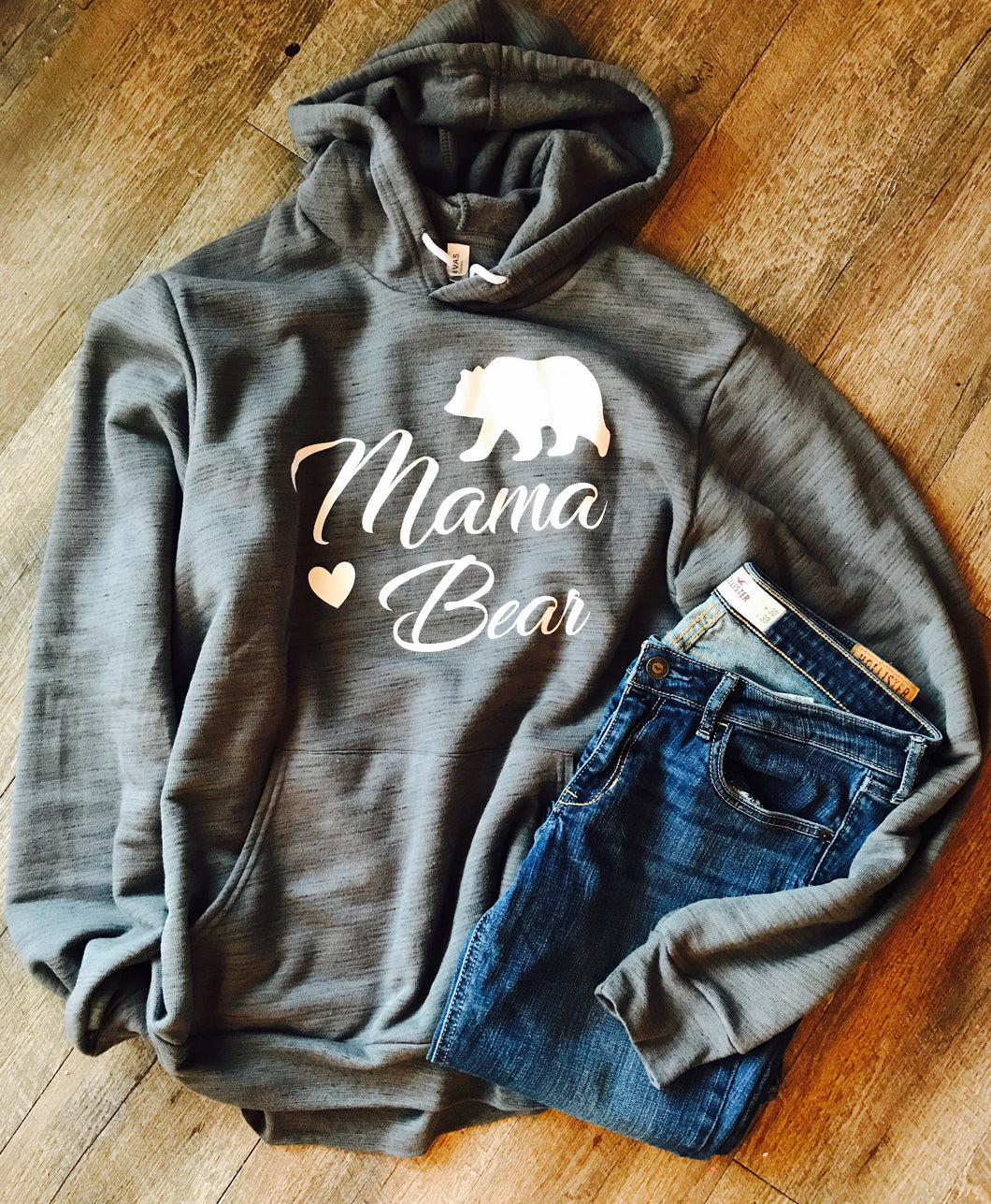Mama bear supersoft unisex hoodie or t-shirt - Mavictoria Designs Hot Press Express