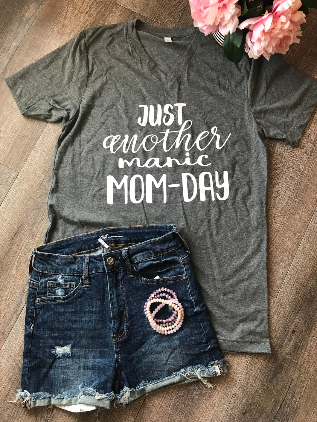 Just another manic mom day funny momlife mom life tshirt graphic tee - Mavictoria Designs Hot Press Express