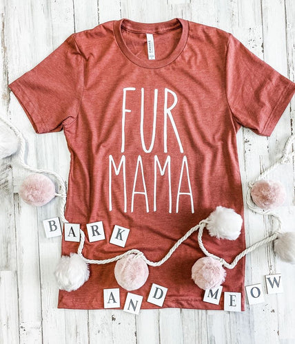 Fur mama tank tee crew or hoodie - Mavictoria Designs Hot Press Express