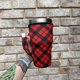 Lit Handlers Red Plaid - Mavictoria Designs Hot Press Express
