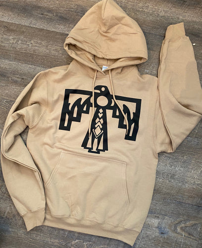 Black thunderbird // tan graphic hoodie or tee - Mavictoria Designs Hot Press Express