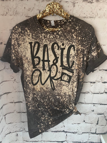 Basic AF graphic tee // bleached out charcoal pumpkin spice latte - Mavictoria Designs Hot Press Express