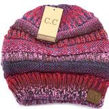 Multi Color Cable Knit CC Beanie - Mavictoria Designs Hot Press Express