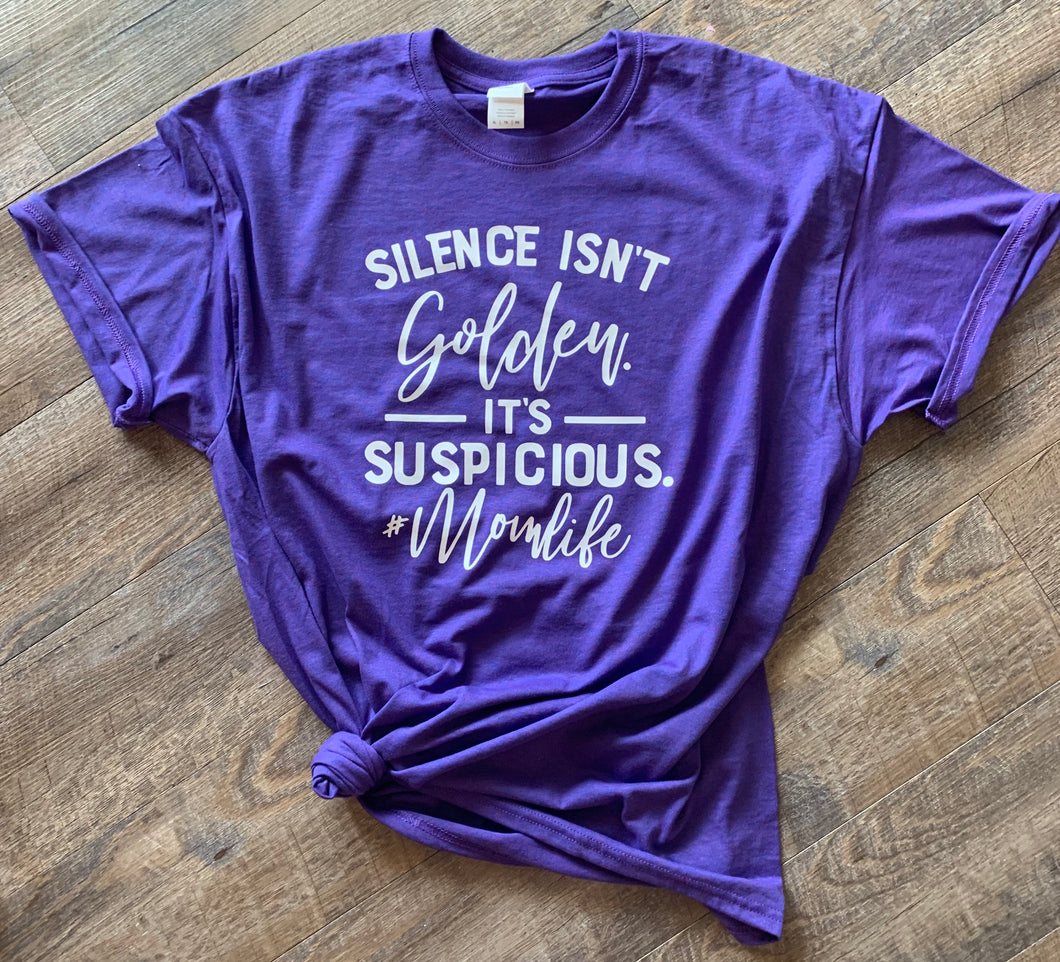 Silence isn't golden it's suspicious #momlife - Mavictoria Designs Hot Press Express