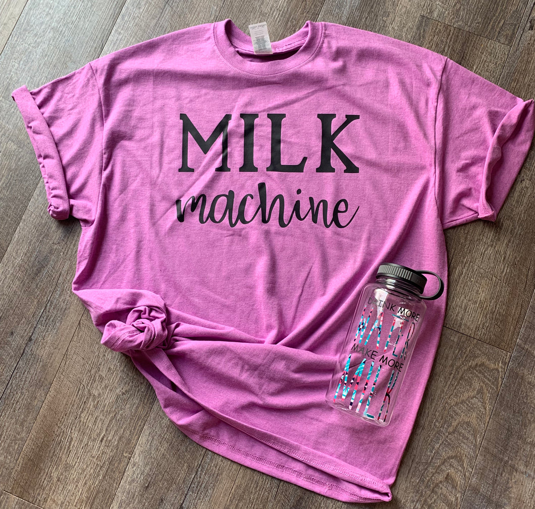 Milk machine. Breastfeeding graphic tee. - Mavictoria Designs Hot Press Express