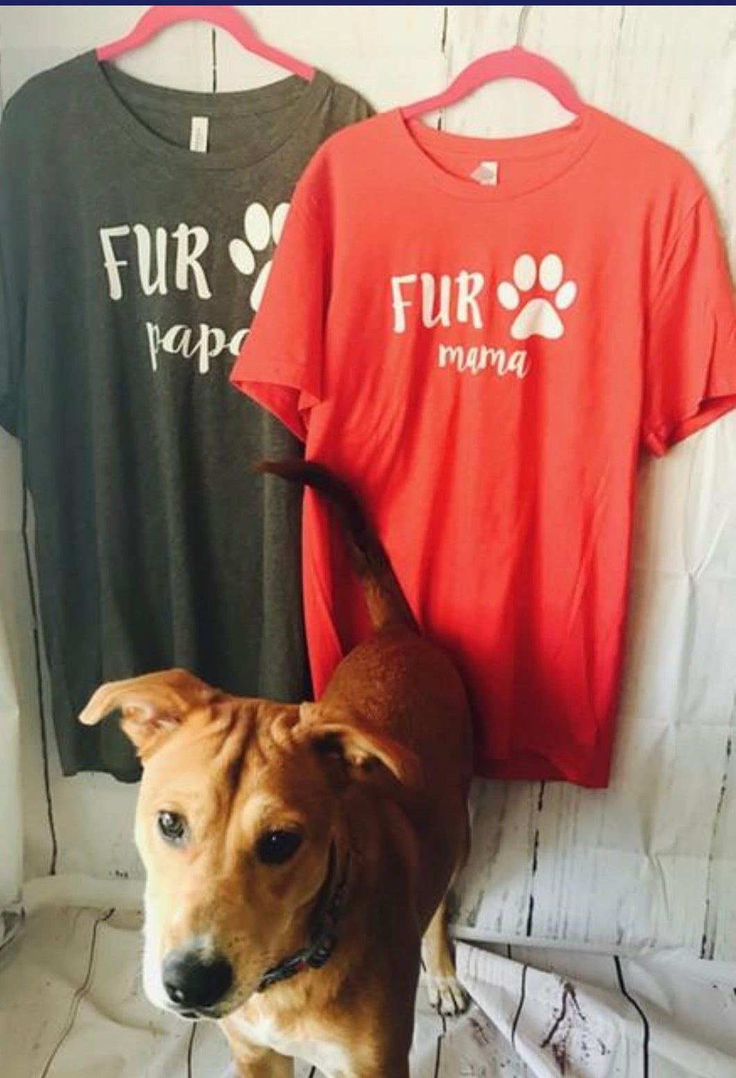 Fur mama or fur papa dog print custom tshirts - Mavictoria Designs Hot Press Express