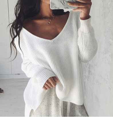 Dancer's Sweater - Sexy Off Shoulder Knitted Cover-Up