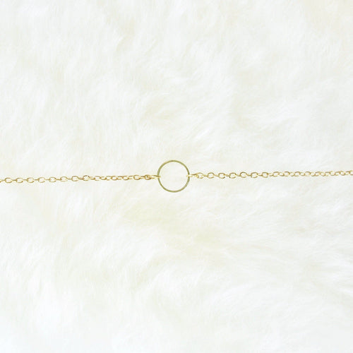 Eternity Circle Pendant Layering Necklace