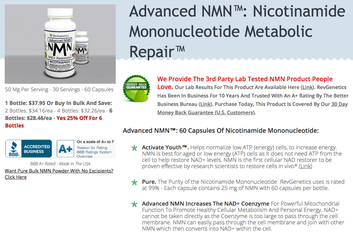 Advanced NMN 25 Percent Off