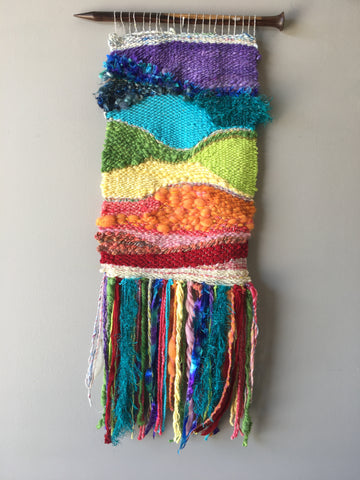 Rainbow Wall Weaving