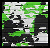 Hydro Turf Cut Groove Lime Green Camo Mat