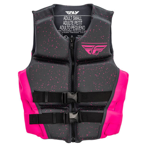 Fly Racing Womens Neoprene Life Vest - Pink/Black
