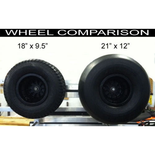 Aluminum & Fiberglass & Inflatable Boat 2-Wheel Beach Dolly