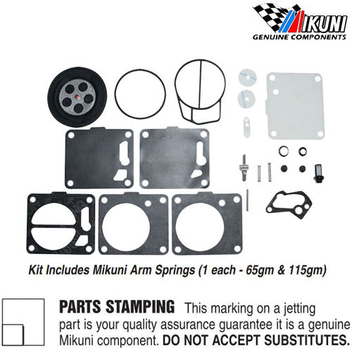 Genuine Mikuni 38/44/46 SBN Carburetor Rebuild Kit