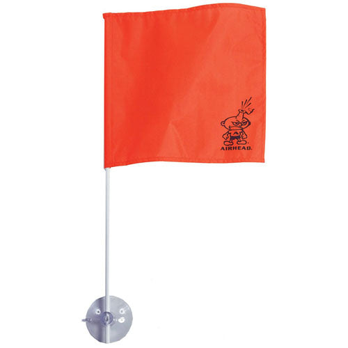 Skier Down Suction Cup Stick-A-Flag