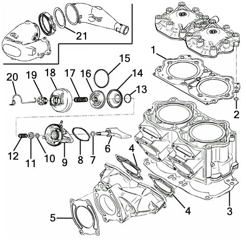 Sea Doo 951 GSX Ltd. '97-99 Individual Gaskets