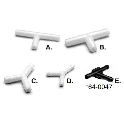 "Plastic ""Y"" and ""T"" Fittings"