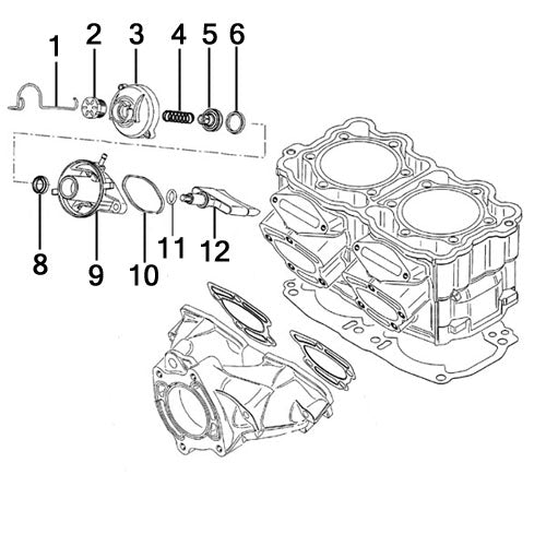 Sea Doo 951 LRV Di '02 Power Valve Rebuild Kit