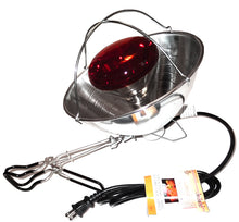 Single Heat Lamp Including Shield, Clamp and Bulb