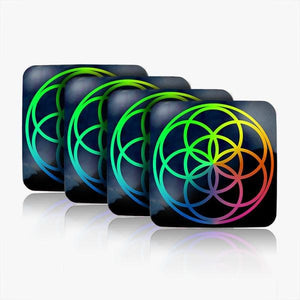 Seed of Life Water Restructuring Coasters 4-Piece Set
