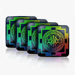Sri Yantra Water Restructuring Coaster 4-Piece Set