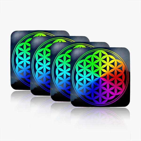 Flower of Life Water Restructuring Coaster 4 - Piece Set