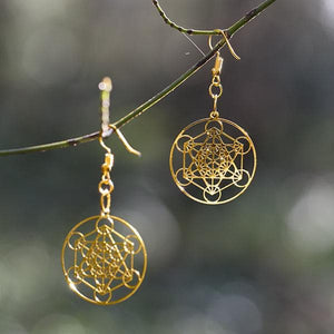 Metatron Earrings - Gold