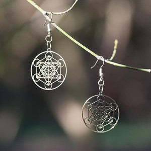 Metatron Earrings - Silver