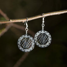 Sri-Yantra Earrings - Silver