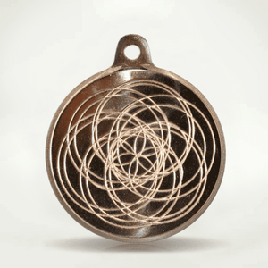 "Sun Medallion Quantum Pendant - ""Merlin Gold"" Brass"