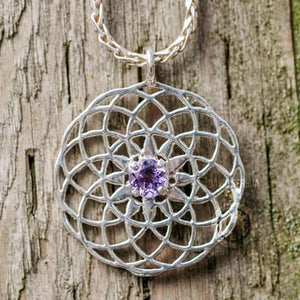 Fred -Jewelry - Tube Torus With Amethyst Pendant