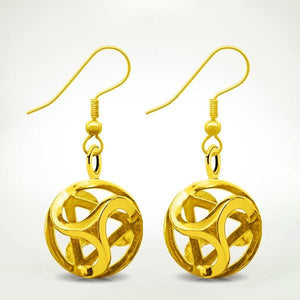 Intrinity Earrings Gold (Pair)