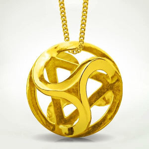 Intrinity Pendant - Gold Merkaba Jewelry