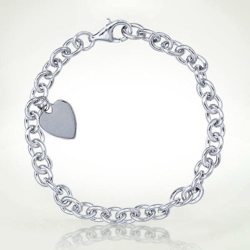 Light Stream Bracelet - Light Stream™ Infused Sterling Silver Women's Bracelet With Heart Charm