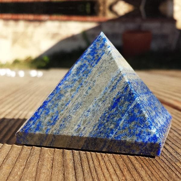 Pyramids - Light Stream™ Infused Lapis Lazuli Pyramid
