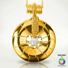 Quantum Pendants - Prosperity Moissanite (Synthetic Diamond) Ultimate Pendant 18k Gold