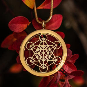 Sacred Geometry Pendants - Metatron 3D Pendant - Gold