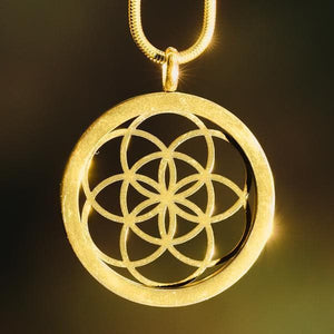 Sacred Geometry Pendants - Seed Of Life 3D Pendant - Gold