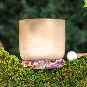 "SInging Bowls - Light Stream™ 24K Gold Therapeutic 515.1 Hz 7"" Crystal Bowl"