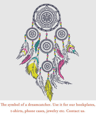 Dreamcatchers, use it for our bookplates, t-shirt and jewelry production