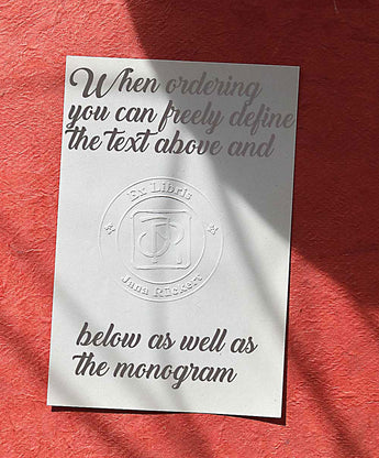 Embossing presses, emboss your motif into the papers of your choice. The whole works like a subtle watermark.