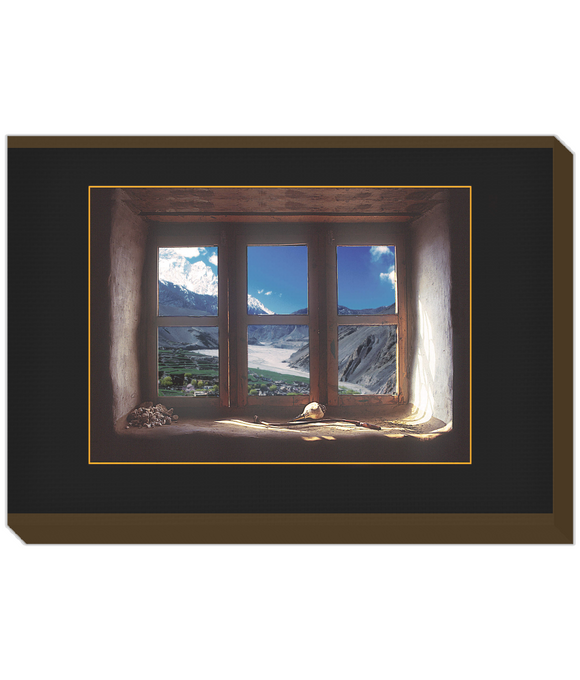 Landscape window Nepal mountain view