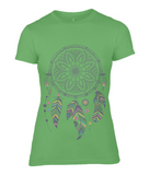 Ladies Fashion Basic Fitted T-Shirt Dreamcatcher