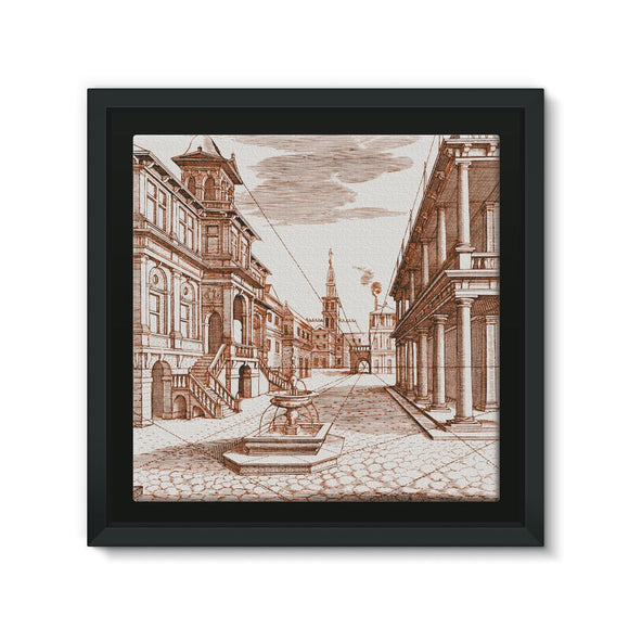 Architecture Old Europe City Framed Canvas