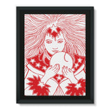Magic Girl Framed Canvas