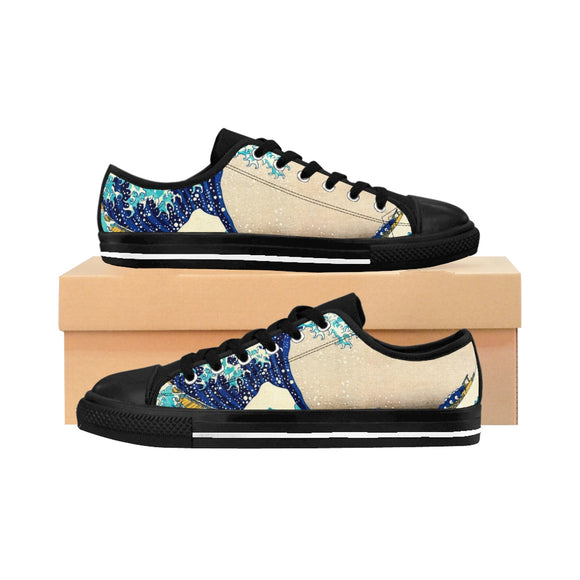 Japan Great Wave Hokusai Women's Sneakers