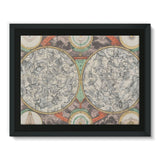 Planisphere Norimbergensis Astrology Map Framed Canvas