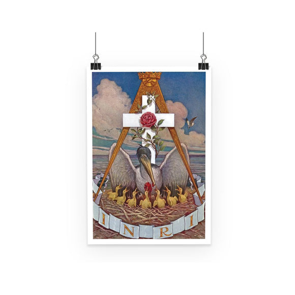 Rosicrucian Pelican Poster