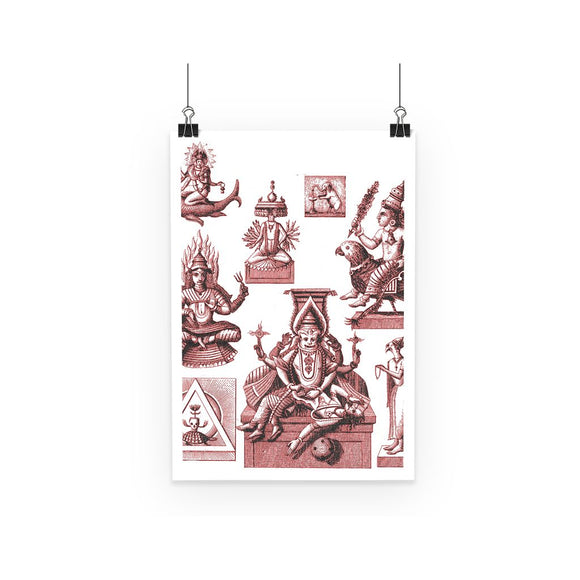 Budhism and Hinduism Gods Poster