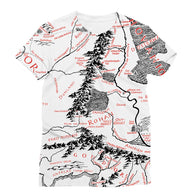 Hobbits Lord of the Ring Map Sublimation T-Shirt